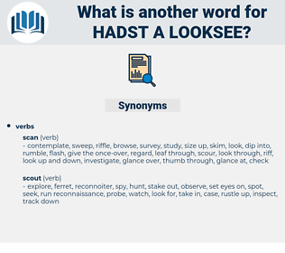 hadst a looksee, synonym hadst a looksee, another word for hadst a looksee, words like hadst a looksee, thesaurus hadst a looksee