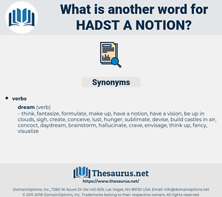 hadst a notion, synonym hadst a notion, another word for hadst a notion, words like hadst a notion, thesaurus hadst a notion