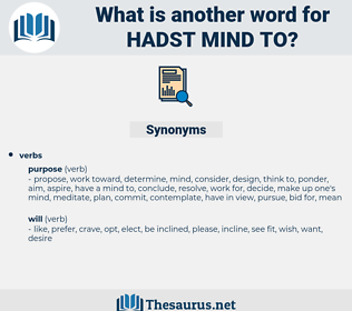 hadst mind to, synonym hadst mind to, another word for hadst mind to, words like hadst mind to, thesaurus hadst mind to