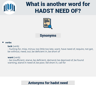 hadst need of, synonym hadst need of, another word for hadst need of, words like hadst need of, thesaurus hadst need of