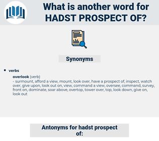 hadst prospect of, synonym hadst prospect of, another word for hadst prospect of, words like hadst prospect of, thesaurus hadst prospect of