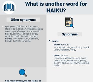 haiku, synonym haiku, another word for haiku, words like haiku, thesaurus haiku