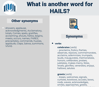 hails, synonym hails, another word for hails, words like hails, thesaurus hails