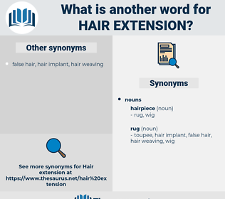 hair extension, synonym hair extension, another word for hair extension, words like hair extension, thesaurus hair extension