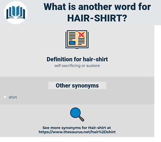 hair-shirt, synonym hair-shirt, another word for hair-shirt, words like hair-shirt, thesaurus hair-shirt