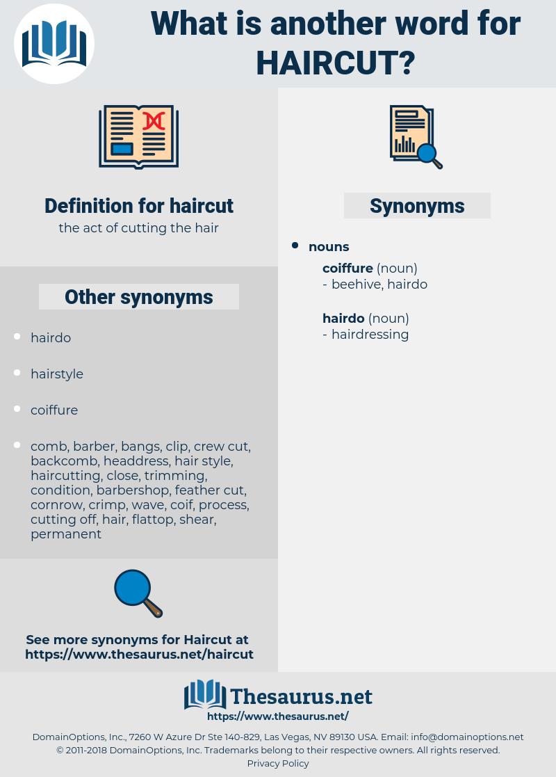 haircut, synonym haircut, another word for haircut, words like haircut, thesaurus haircut