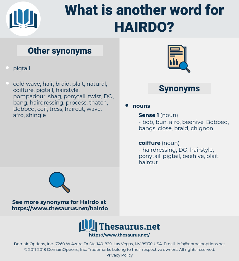 hairdo, synonym hairdo, another word for hairdo, words like hairdo, thesaurus hairdo