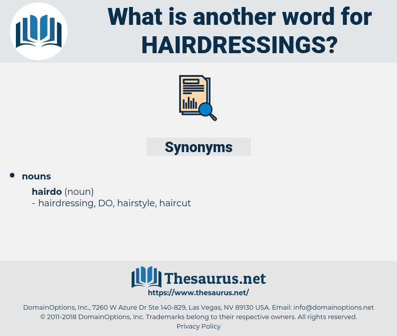 hairdressings, synonym hairdressings, another word for hairdressings, words like hairdressings, thesaurus hairdressings