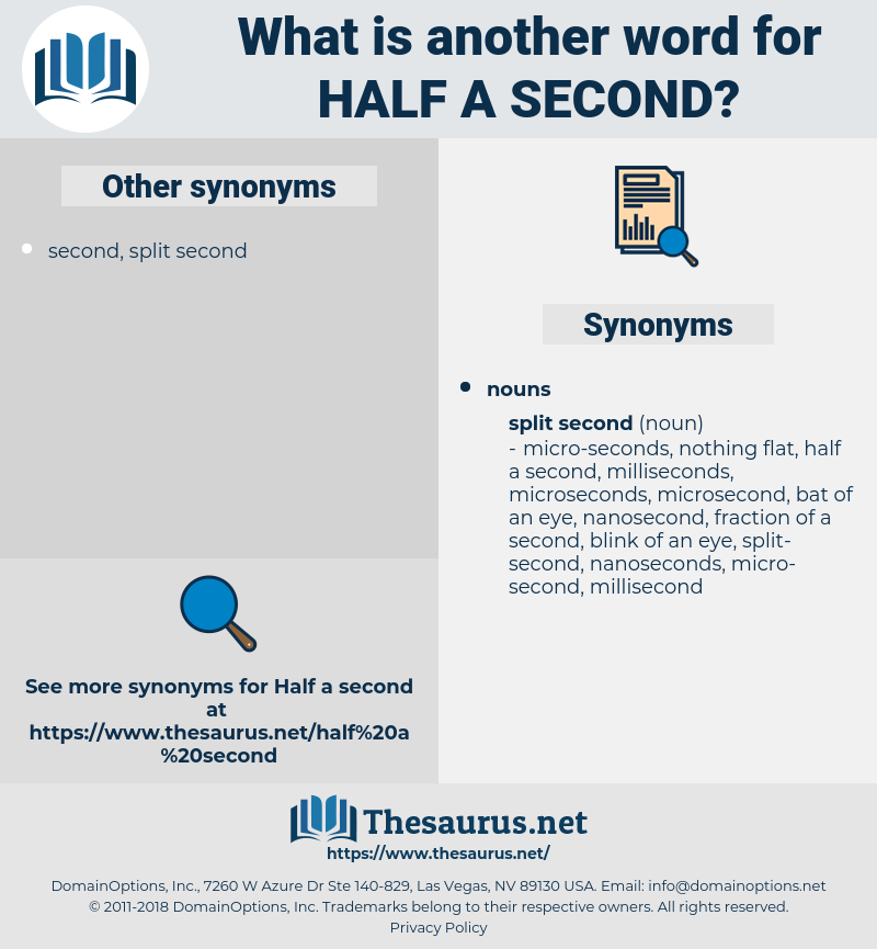 half a second, synonym half a second, another word for half a second, words like half a second, thesaurus half a second