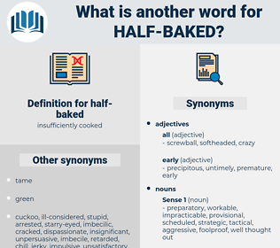 half-baked, synonym half-baked, another word for half-baked, words like half-baked, thesaurus half-baked