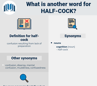 half-cock, synonym half-cock, another word for half-cock, words like half-cock, thesaurus half-cock