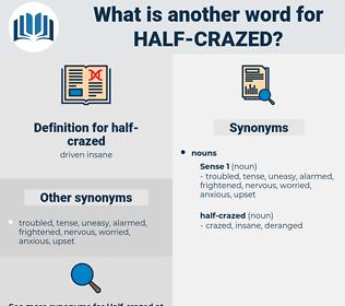 half-crazed, synonym half-crazed, another word for half-crazed, words like half-crazed, thesaurus half-crazed