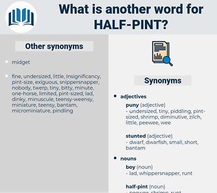 half-pint, synonym half-pint, another word for half-pint, words like half-pint, thesaurus half-pint