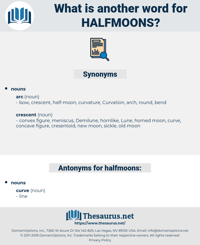 halfmoons, synonym halfmoons, another word for halfmoons, words like halfmoons, thesaurus halfmoons