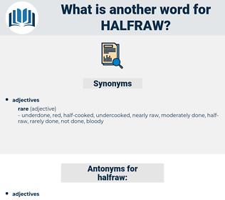 halfraw, synonym halfraw, another word for halfraw, words like halfraw, thesaurus halfraw