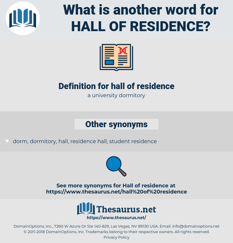 hall of residence, synonym hall of residence, another word for hall of residence, words like hall of residence, thesaurus hall of residence