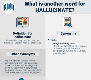 hallucinate, synonym hallucinate, another word for hallucinate, words like hallucinate, thesaurus hallucinate