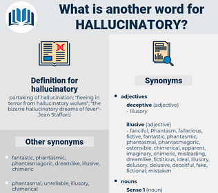 hallucinatory, synonym hallucinatory, another word for hallucinatory, words like hallucinatory, thesaurus hallucinatory