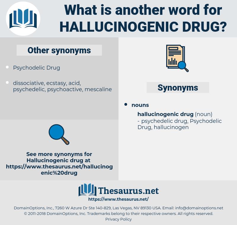 hallucinogenic drug, synonym hallucinogenic drug, another word for hallucinogenic drug, words like hallucinogenic drug, thesaurus hallucinogenic drug