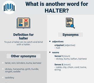 halter, synonym halter, another word for halter, words like halter, thesaurus halter