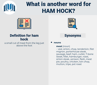 ham hock, synonym ham hock, another word for ham hock, words like ham hock, thesaurus ham hock