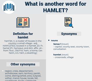 hamlet, synonym hamlet, another word for hamlet, words like hamlet, thesaurus hamlet