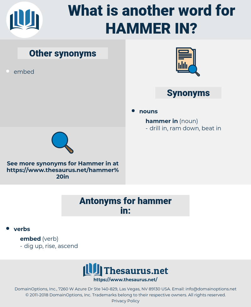 hammer in, synonym hammer in, another word for hammer in, words like hammer in, thesaurus hammer in
