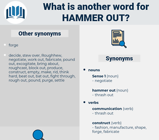 hammer out, synonym hammer out, another word for hammer out, words like hammer out, thesaurus hammer out