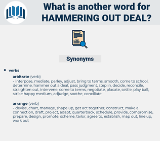 hammering out deal, synonym hammering out deal, another word for hammering out deal, words like hammering out deal, thesaurus hammering out deal