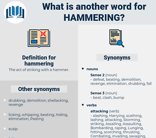 hammering, synonym hammering, another word for hammering, words like hammering, thesaurus hammering