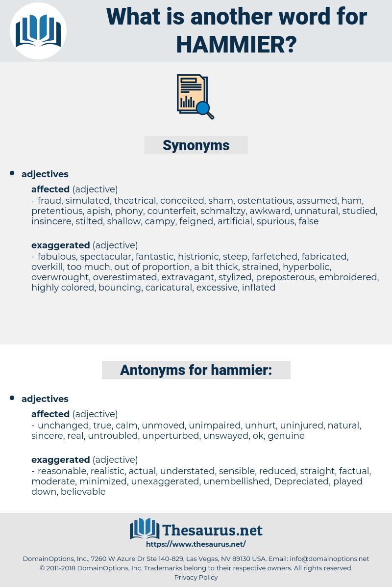 hammier, synonym hammier, another word for hammier, words like hammier, thesaurus hammier