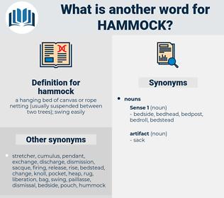 hammock, synonym hammock, another word for hammock, words like hammock, thesaurus hammock