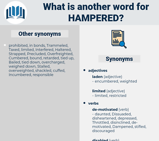 Hampered, synonym Hampered, another word for Hampered, words like Hampered, thesaurus Hampered