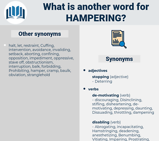 Hampering, synonym Hampering, another word for Hampering, words like Hampering, thesaurus Hampering