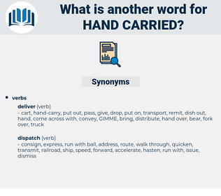 hand carried, synonym hand carried, another word for hand carried, words like hand carried, thesaurus hand carried