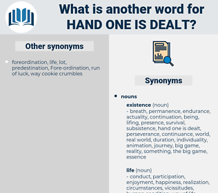 hand one is dealt, synonym hand one is dealt, another word for hand one is dealt, words like hand one is dealt, thesaurus hand one is dealt