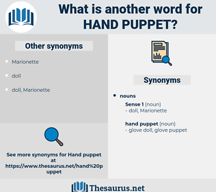 hand puppet, synonym hand puppet, another word for hand puppet, words like hand puppet, thesaurus hand puppet
