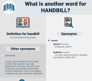 handbill, synonym handbill, another word for handbill, words like handbill, thesaurus handbill