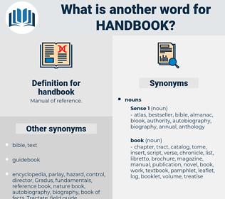 handbook, synonym handbook, another word for handbook, words like handbook, thesaurus handbook