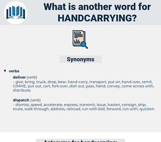handcarrying, synonym handcarrying, another word for handcarrying, words like handcarrying, thesaurus handcarrying