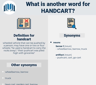 handcart, synonym handcart, another word for handcart, words like handcart, thesaurus handcart