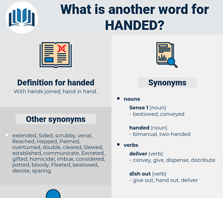 handed, synonym handed, another word for handed, words like handed, thesaurus handed