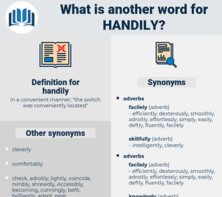 handily, synonym handily, another word for handily, words like handily, thesaurus handily
