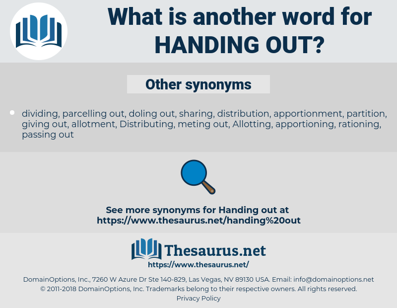 handing out, synonym handing out, another word for handing out, words like handing out, thesaurus handing out