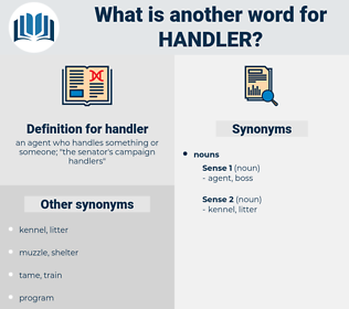 handler, synonym handler, another word for handler, words like handler, thesaurus handler