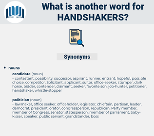 handshakers, synonym handshakers, another word for handshakers, words like handshakers, thesaurus handshakers