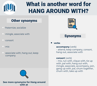 hang around with, synonym hang around with, another word for hang around with, words like hang around with, thesaurus hang around with