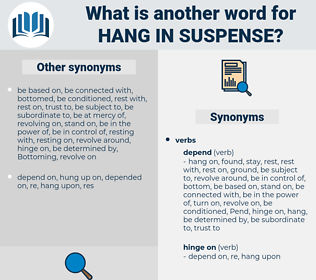 hang in suspense, synonym hang in suspense, another word for hang in suspense, words like hang in suspense, thesaurus hang in suspense