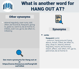 hang out at, synonym hang out at, another word for hang out at, words like hang out at, thesaurus hang out at
