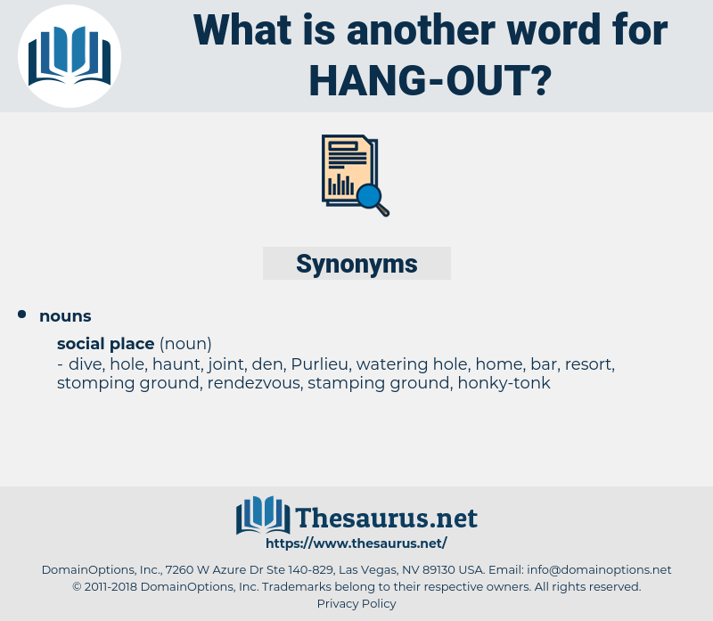 hang out, synonym hang out, another word for hang out, words like hang out, thesaurus hang out